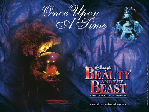 Beauty and the Beast wallpaper probably containing anime called Beauty and The Beast on Broadway