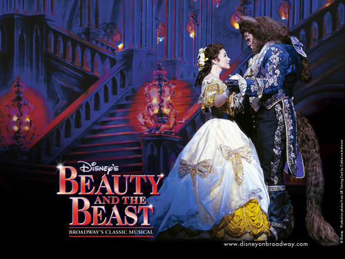 Beauty and the Beast wallpaper probably containing a bridesmaid entitled Beauty and The Beast on Broadway