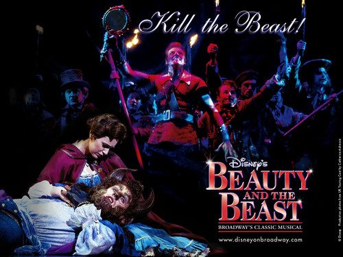 Beauty and the Beast wallpaper probably with a concert entitled Beauty and The Beast on Broadway