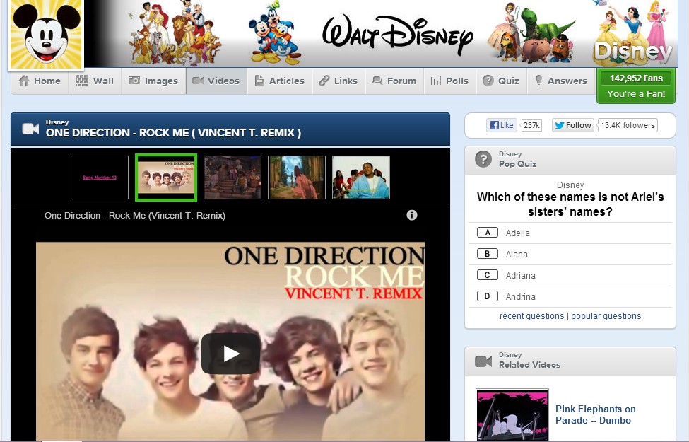 Because One Direction totally relates to Disney...