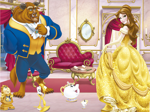 Princess Belle wallpaper entitled Belle and Beast