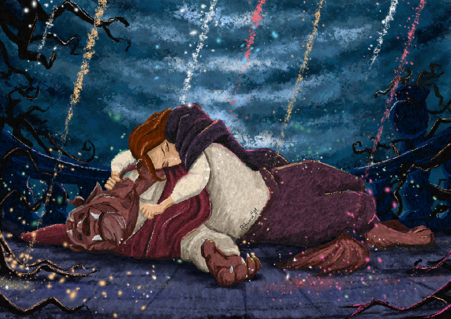Belle and the Beast - Disney Couples Fan Art (34291880 ...