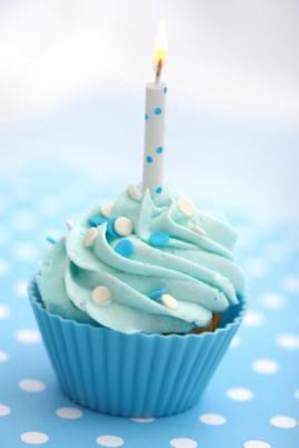 Blue cupcake for My Angel Sister