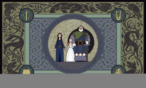 Công chúa tóc xù Tapestry