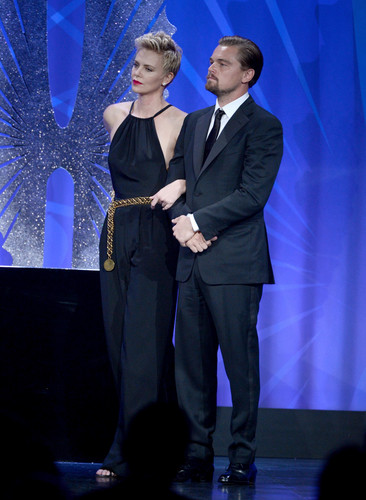Charlize & Leo Dicapreo at GLAAD Media Awards 2013