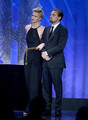 Charlize & Leo Dicapreo at GLAAD Media Awards 2013 - charlize-theron photo