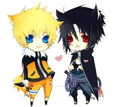 chibi Naruto and SASUKE