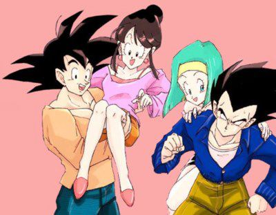 Chichi and bulma with their husbands