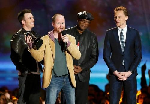 Chris, Samuel, Joss and Tom at the 2013 MTV Movie Awards