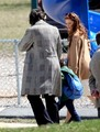 Christian Bale and Amy Adams on Set - amy-adams photo