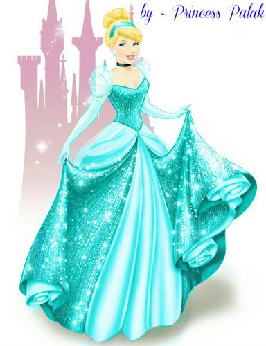 Cinderella's new look in light shine blue color