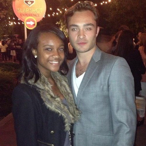 Ed Westwick Hintergrund possibly with a pelz mantel titled City Jahr Los Angeles' Spring Break - April 20, 2013