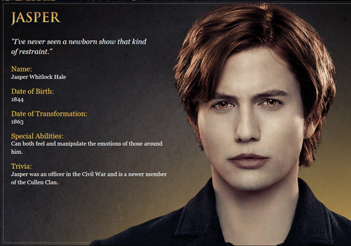 Cullen Character Cards
