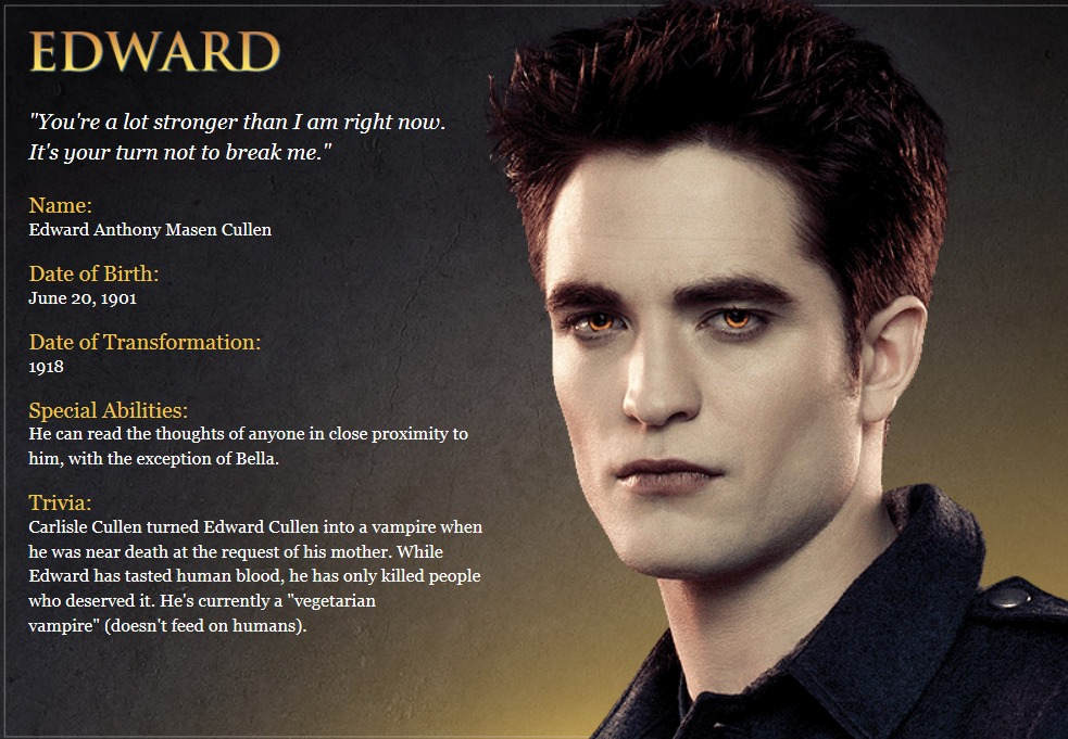 The Twilight Saga. Edward and Bella: a description of the characters and photos