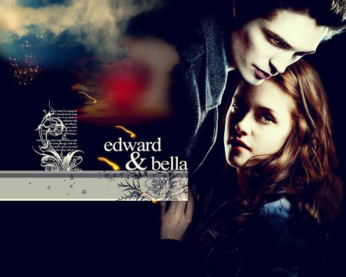 Edward e Bella wallpaper with a sign titled Edward+Bella