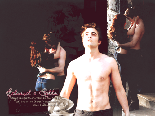 edward dan bella wallpaper with a bingkah, cowok entitled Edward+Bella