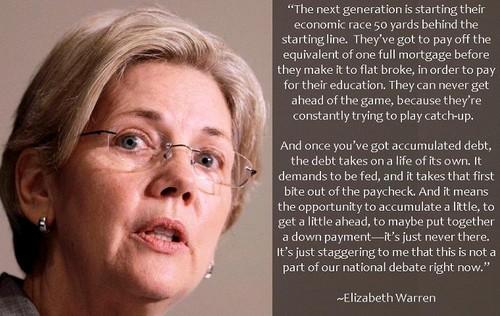 Elizabeth Warren debt