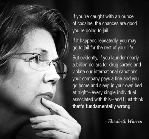 Elizabeth Warren laundering