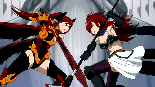 Anime wallpaper possibly with anime entitled Erza Scarlet vs Erza Knightwalker