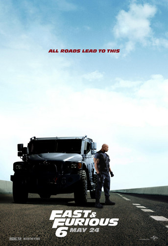 Fast and Furious 6 (2013) Poster - Dwayne Johnson