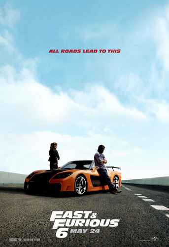 Fast and Furious fond d'écran called Fast and Furious 6 (2013) Poster - Gal Gadot & Sung Kang