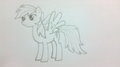 First Rainbow dash draw :P - my-little-pony-friendship-is-magic fan art