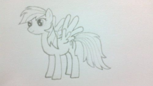 First Rainbow dash draw :P
