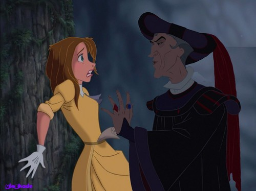Frollo flirting with Jane