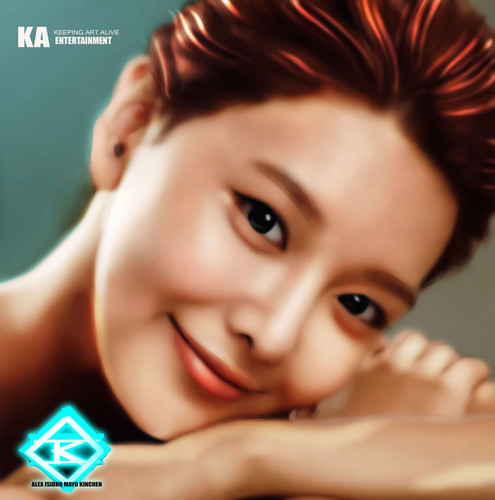Girls Generation/SNSD wallpaper probably containing a portrait called GIRLS' GENERATION Sooyoung Painting