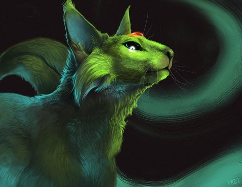 Magical Creatures images Green Cat HD wallpaper and background ...