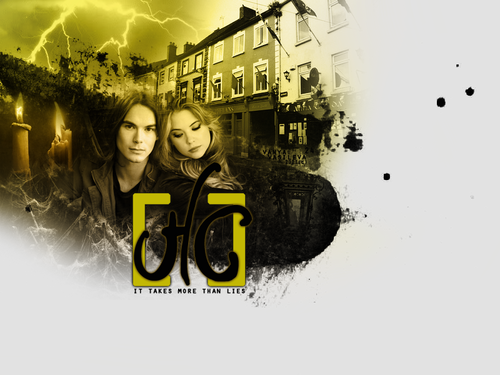 Hanna & Caleb wallpaper possibly containing a rua called Hanna+Caleb