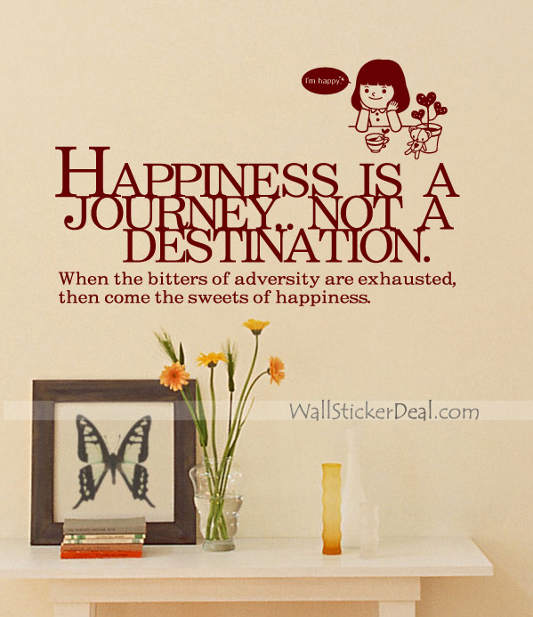 Happiness is a journey quotes wall sticker home for Decoration quotes sayings