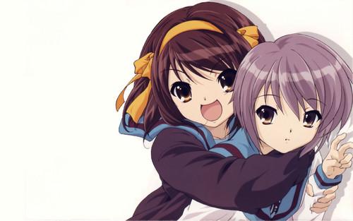 Haruhi Suzumiya & Yuki Nagato <3