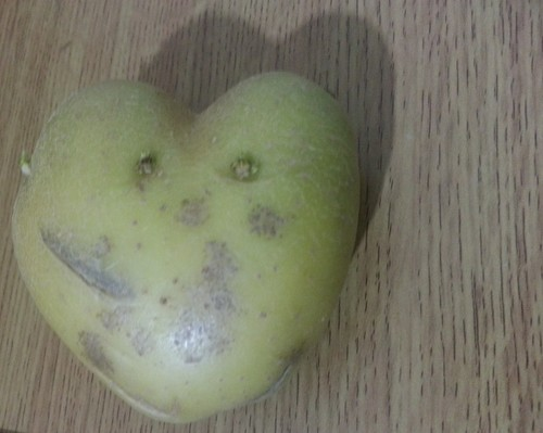 cœur, coeur shaped potato