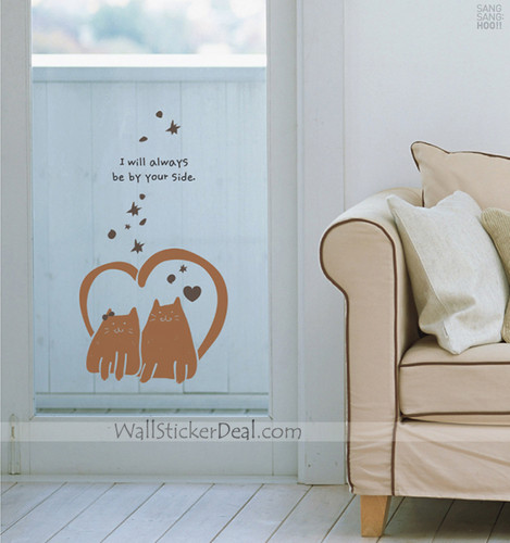 ہوم Decorating پیپر وال with a living room titled I Will Always Be Your Side Animals دیوار Stickers