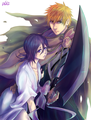 ICHIRUKI - ichigo-and-rukia-sun-and-moon photo