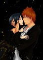 IchiRuki - ichigo-and-rukia-sun-and-moon fan art