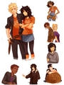 Important Characters As Their Opposite Genders - the-heroes-of-olympus fan art