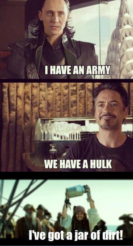 Jar of dirt....the avengers!