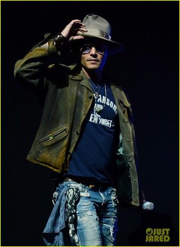 Johnny Depp at CinemaCon 2013 ডিজনি