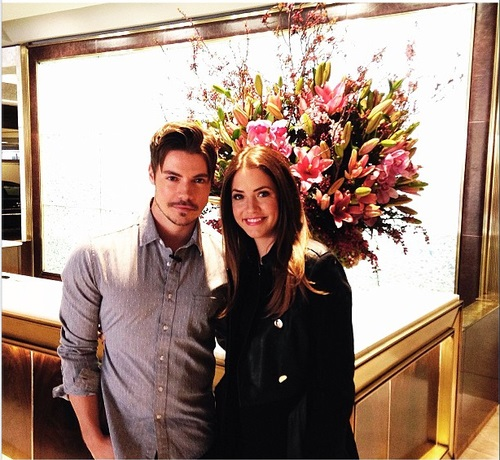 Josh Henderson wallpaper with a bouquet called Josh Henderson & Julie Gonzalo ಇ