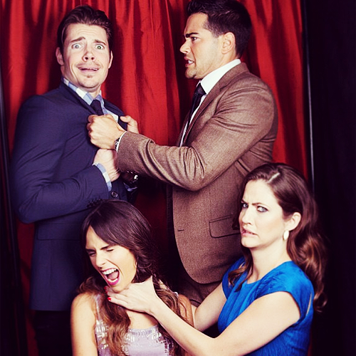 Josh Henderson wallpaper possibly with a business suit and a bridesmaid titled Josh, Jesse, Jordana & Julie | J4 |