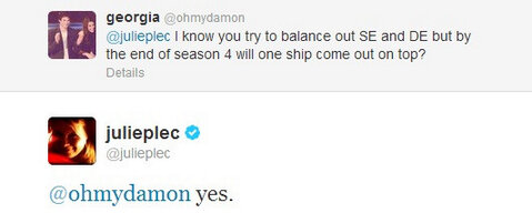 Julie Plec's tweet