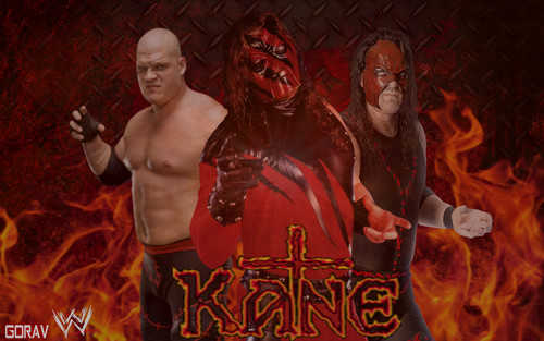 WWE kertas dinding possibly containing a api, kebakaran and Anime entitled KANE kertas dinding