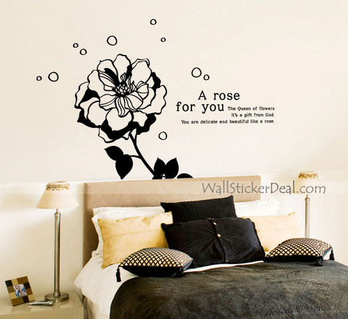 Kate Rose Flower Wall Stickers