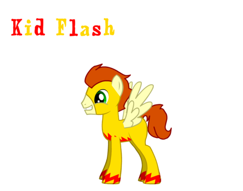 Kid Flash as a pony