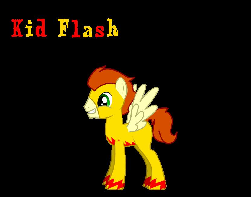 Kid Flash as a pony