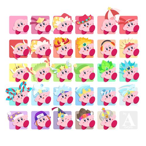 Kirby's copy abilities