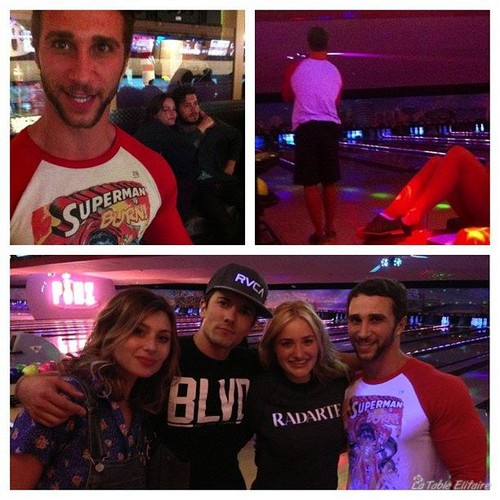 Leighton Meester with Adam bowling