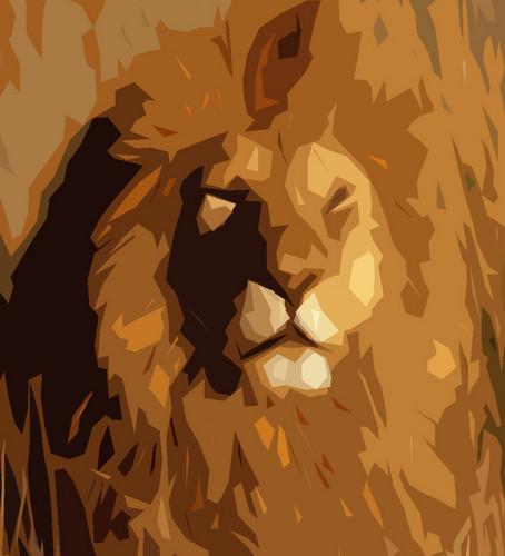 Lions پیپر وال called Lion art